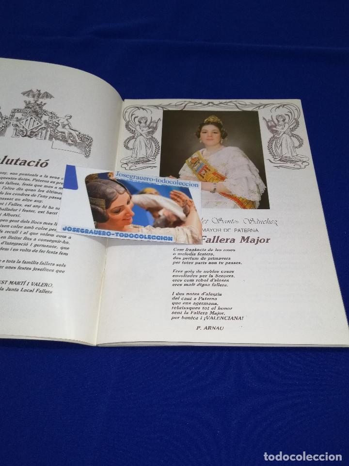Coleccionismo de Revista Temas Españoles: LLIBRET JUNTA LOCAL FALLERA PATERNA 1984 - Foto 4 - 214355633