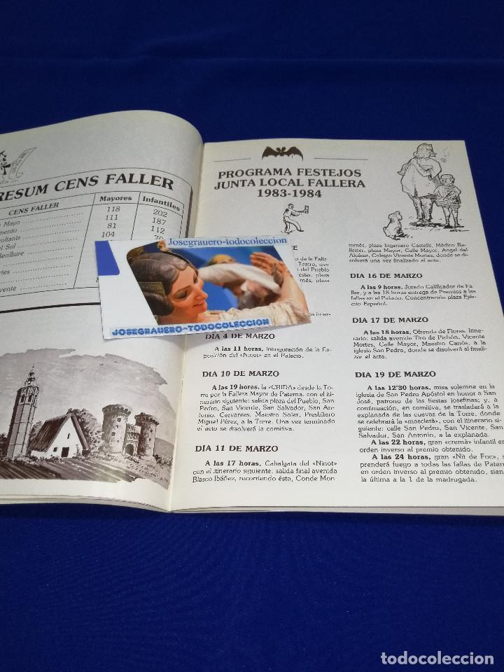 Coleccionismo de Revista Temas Españoles: LLIBRET JUNTA LOCAL FALLERA PATERNA 1984 - Foto 5 - 214355633