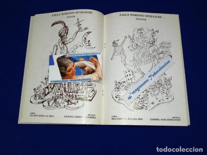 Coleccionismo de Revista Temas Españoles: LLIBRET JUNTA LOCAL FALLERA PATERNA 1984 - Foto 7 - 214355633