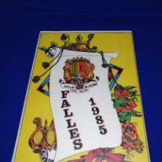 Coleccionismo de Revista Temas Españoles: LLIBRET JUNTA LOCAL FALLERA PATERNA 1985. Lote 214358902