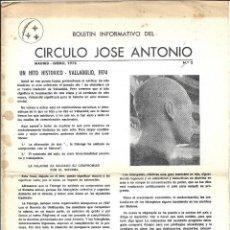 Collectionnisme de Magazine Temas Españoles: CIRCULO JOSE ANTONIO - UN HITO HISTORICO EN VALLADOLID- 1.974. Lote 217367503