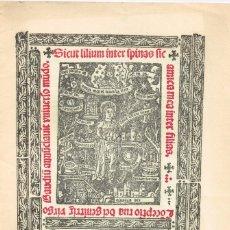 Coleccionismo de Revista Temas Españoles: 1965 REVISTA LOORES A LA SANTÍSIMA VIRGEN MARÍA-1ºLIBRO IMPRESO EN ESPAÑA EN VALENCIA 1474 L.PALMART. Lote 222138713