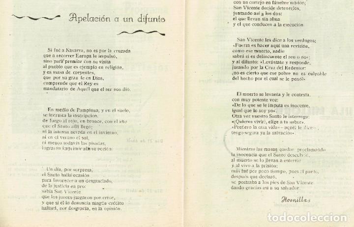 Coleccionismo de Revista Temas Españoles: Programa 1947 Asociación San Vicente Ferrer del Mocadoret - Valencia - Foto 3 - 222168322