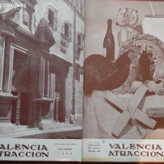 Coleccionismo de Revista Temas Españoles: VALENCIA ATRACCION, 2 REVISTAS ANTIGUAS , AÑOS NOVIEMBRE 1956- DICIEMBRE 1958. Lote 222269687