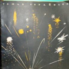 Coleccionismo de Revista Temas Españoles: FIESTAS Y FERIAS DE ESPAÑA. AUTOR: ANÓNIMO. PUBLICDO EN 1952. Lote 227185440