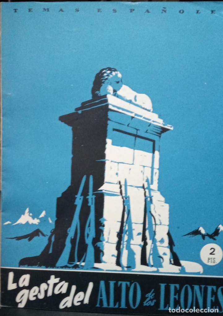 LA GESTA DEL ALTO DE LOS LEONES. VALENTÍN FERANDEZ CUEVAS. PUBLICADO: 1952. Nº 9 (Papel - Revistas y Periódicos Modernos (a partir de 1.940) - Revista Temas Españoles)