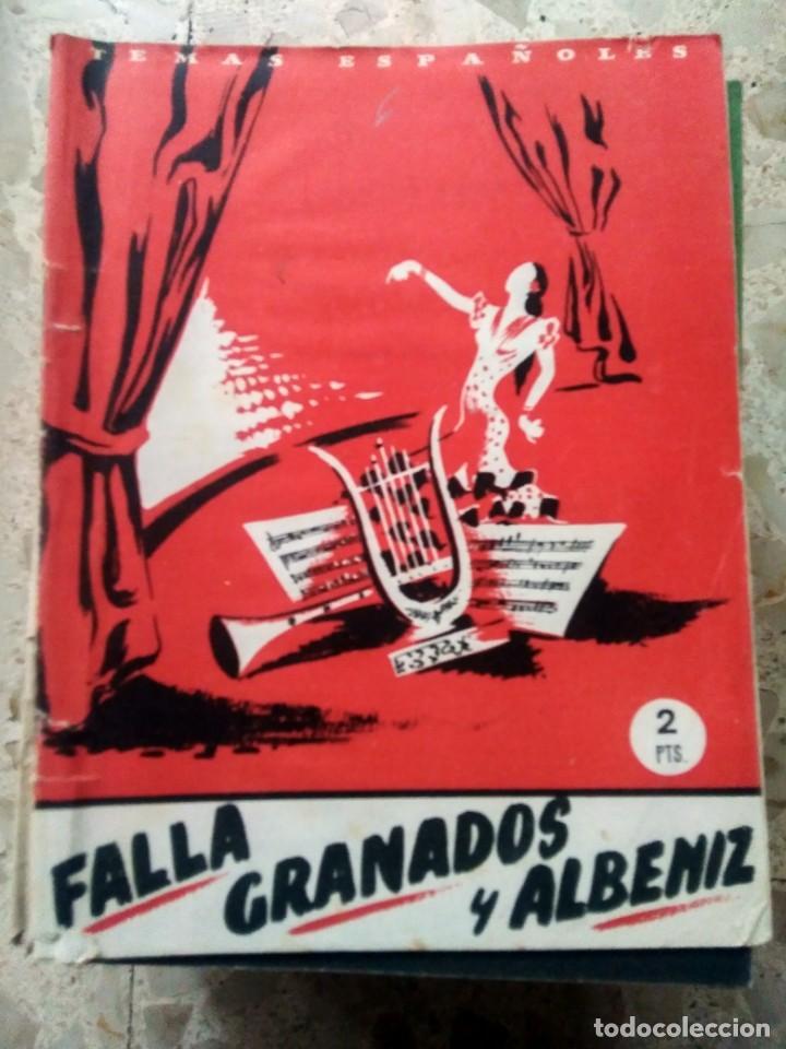 TEMAS ESPAÑOLES - Nº 6 - FALLA, GRANADOS Y ALBÉNIZ - JULIA MARTÍNEZ (Papel - Revistas y Periódicos Modernos (a partir de 1.940) - Revista Temas Españoles)