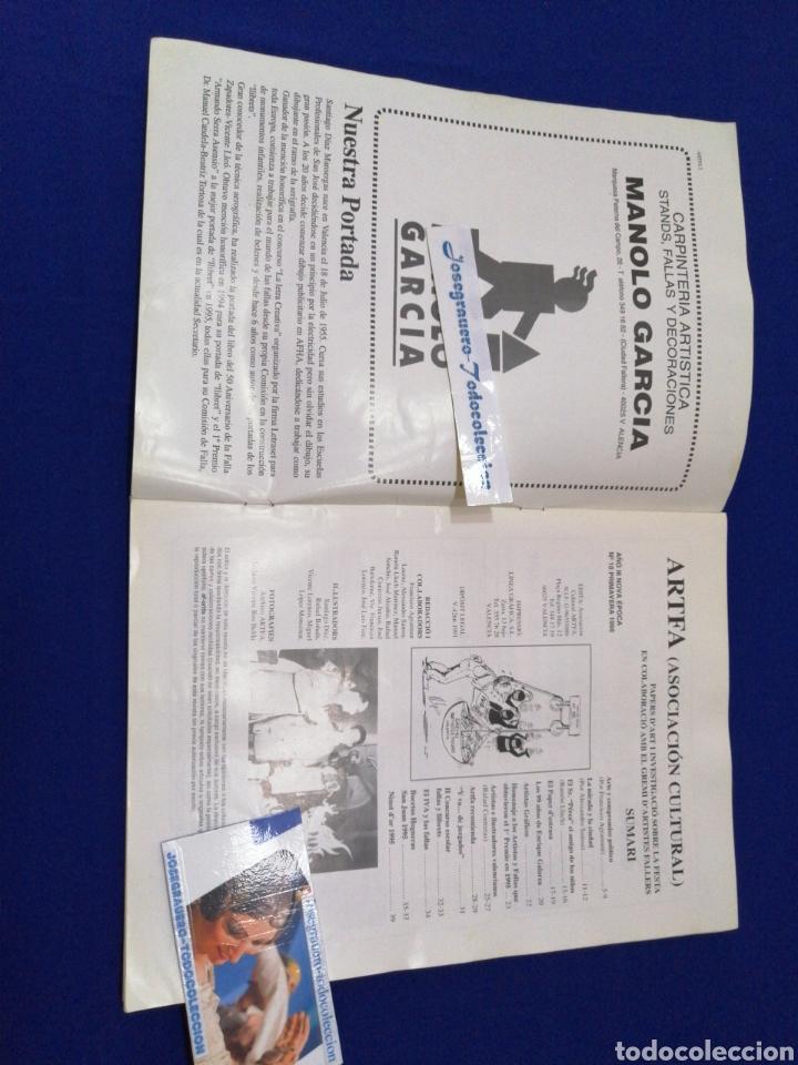 Coleccionismo de Revista Temas Españoles: ARTFA REVISTA FALLERA INVESTIGACIÓN NUMERO 10 - 1995 - Foto 2 - 233840505