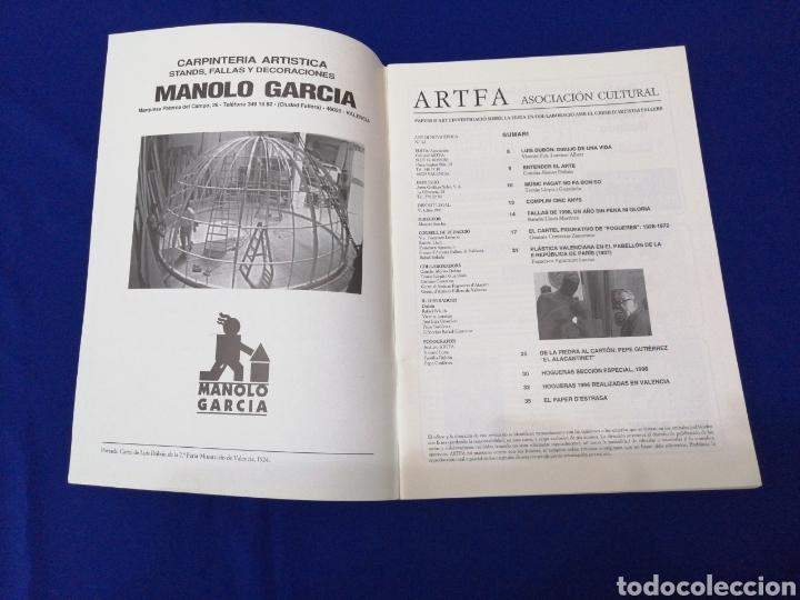 Coleccionismo de Revista Temas Españoles: ARTFA GREMIO ARTISTAS FALLEROS 1996 - Foto 3 - 234002665