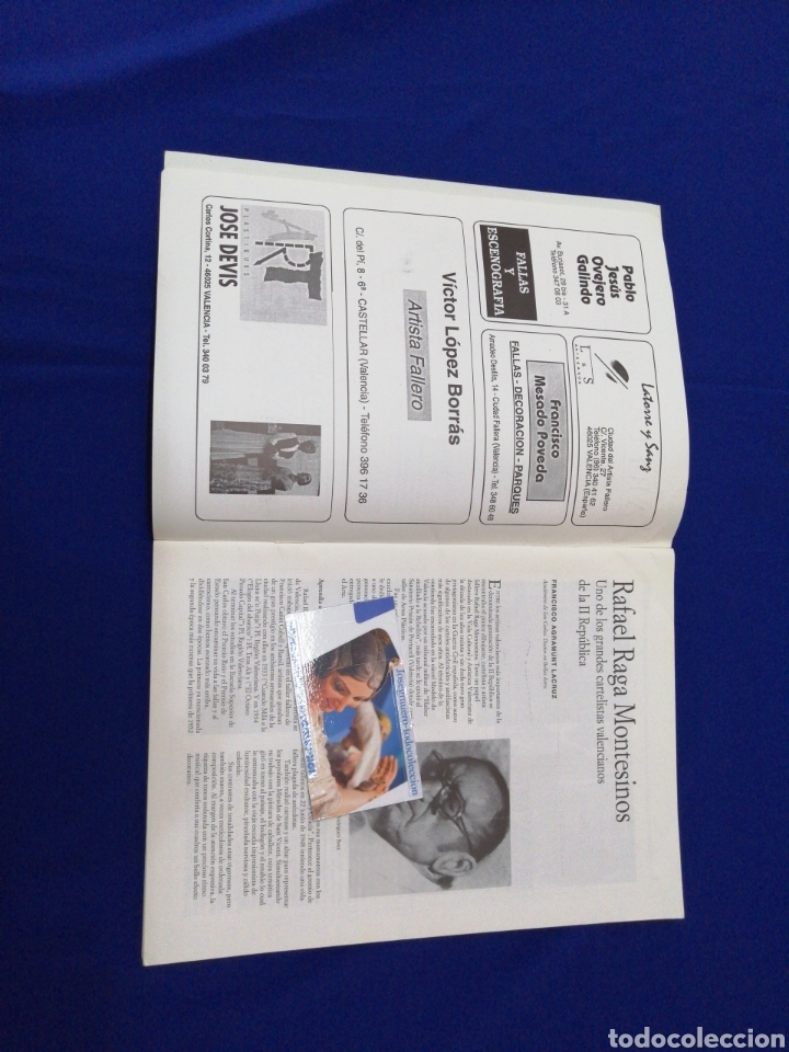 Coleccionismo de Revista Temas Españoles: ARTFA GREMIO ARTISTAS FALLEROS 1996 - Foto 3 - 234003785