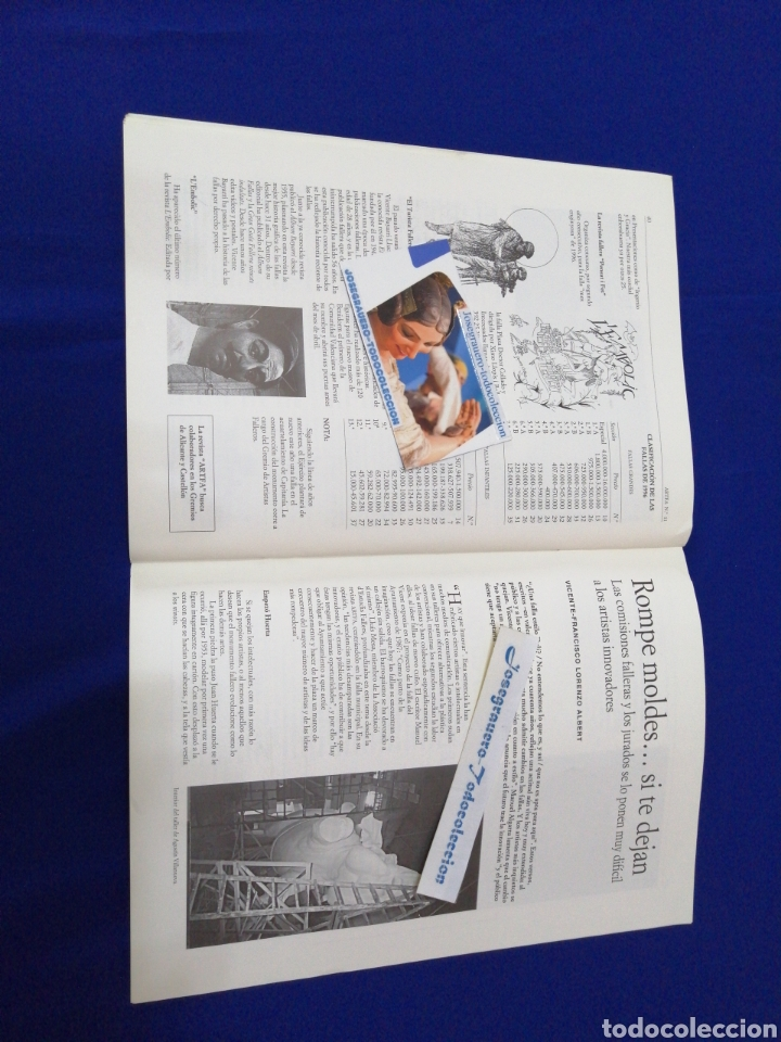 Coleccionismo de Revista Temas Españoles: ARTFA GREMIO ARTISTAS FALLEROS 1996 - Foto 11 - 234003785