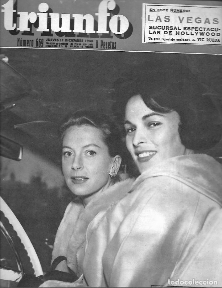 REVISTA TRIUNFO Nº 669 AÑO 1959 EN PORTADA DEBORAH Y LUCIA (Papel - Revistas y Periódicos Modernos (a partir de 1.940) - Revista Temas Españoles)