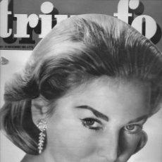 Coleccionismo de Revista Temas Españoles: REVISTA TRIUNFO Nº 821 AÑO 1961 EN PORTADA ELEONORA ROSSI DRAGO. Lote 234356885