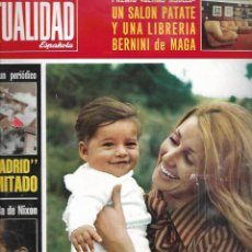 Coleccionismo de Revista Temas Españoles: LA ACTUALIDAD ESPAÑOLA Nº 1113 AÑO 1973 PORTADA CARMEN DE BORBON Y SU HIJO FRANCISCO. Lote 234364440