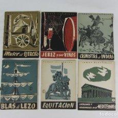 Coleccionismo de Revista Temas Españoles: SEIS FASCÍCULOS DE LA REVISTA TEMAS ESPAÑOLES - MADRID 1954-1958. Lote 240266575