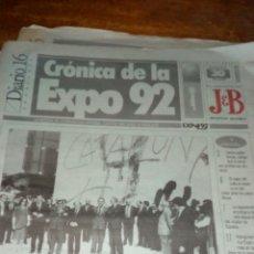 Coleccionismo de Revista Temas Españoles: 11 PERIÓDICO ... DIARIO 16.CRÓNICA DE LA EXPO 92. Lote 242370610