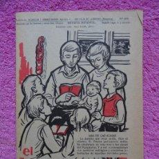 Coleccionismo de Revista Temas Españoles: EL BENJAMÍN REVISTA INFANTIL 298 EL MES DE LAS ALMAS NOVIEMBRE 1968. Lote 242861490