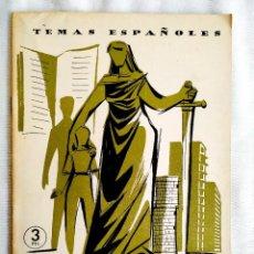 Coleccionismo de Revista Temas Españoles: 1959 - SEGUROS SOCIALES - TEMAS ESPAÑOLES NÚM. 398. Lote 251684550