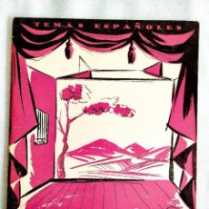 Coleccionismo de Revista Temas Españoles: 1956 - TEATRO ESPAÑOL CONTEMPORÁNEO - TEMAS ESPAÑOLES NÚM. 270. Lote 251688255