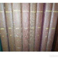 Coleccionismo de Revista Temas Españoles: 8 TOMOS DE LA REVISTA SEMANA. AÑOS 1949 Y 1950. 4 TOMOS CADA AÑO. MUY BUENA CONSERVACIÓN.. Lote 237007125