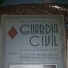 Coleccionismo de Revista Temas Españoles: GUARDIA CIVIL. REVISTA OFICIAL DEL CUERPO. AÑO II NÚMERO 20 DICIEMBRE 1946.. Lote 254020305