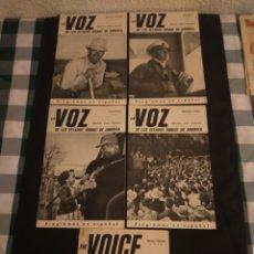 Coleccionismo de Revista Temas Españoles: LOTE DE 5 REVISTA LA VOZ. Lote 256063325