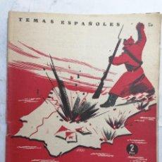 Coleccionismo de Revista Temas Españoles: REVISTA TEMAS ESPAÑOLES, Nº 50, LUCHAS EN LA ZONA ROJA, AÑO 1953. Lote 261622865