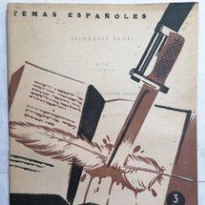 Coleccionismo de Revista Temas Españoles: REVISTA TEMAS ESPAÑOLES, Nº 47, 2ª EDICION, ESCRITORES ASESINADOS POR LOS ROJOS, AÑO 1959. Lote 261625765