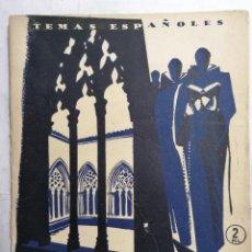 Coleccionismo de Revista Temas Españoles: REVISTA TEMAS ESPAÑOLES, Nº 132, MONASTERIOS ESPAÑOLES, AÑO 1954. Lote 261652850