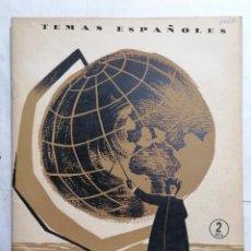 Coleccionismo de Revista Temas Españoles: REVISTA TEMAS ESPAÑOLES, Nº 117, UN GRAN PEDAGOGO, EL PADRE MANJON, AÑO 1954. Lote 261652965