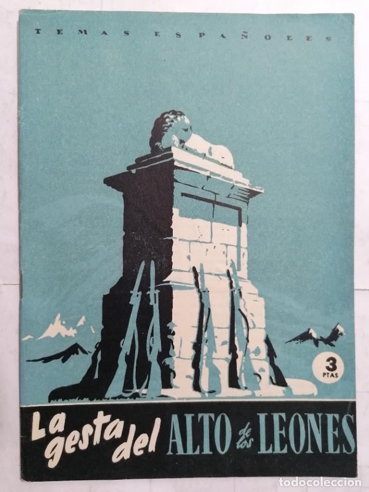REVISTA TEMAS ESPAÑOLES, Nº 9,LA GESTA DEL ALTO DE LOS LEONES, 2ª EDICION, AÑO 1959 (Papel - Revistas y Periódicos Modernos (a partir de 1.940) - Revista Temas Españoles)