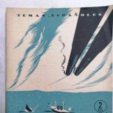 Coleccionismo de Revista Temas Españoles: REVISTA TEMAS ESPAÑOLES, Nº 98, ESPAÑA 1898, AÑO 1954. Lote 261653145