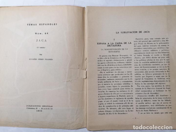 Coleccionismo de Revista Temas Españoles: REVISTA TEMAS ESPAÑOLES, Nº 64, JACA, 2ª EDICION, AÑO 1956 - Foto 2 - 261793975