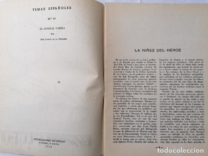 Coleccionismo de Revista Temas Españoles: REVISTA TEMAS ESPAÑOLES, Nº 77, EL GENERAL VARELA, AÑO 1954 - Foto 2 - 261794415