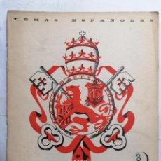 Coleccionismo de Revista Temas Españoles: REVISTA TEMAS ESPAÑOLES, Nº 83, EL MARQUES DE COMILLAS, AÑO 1954. Lote 261794545