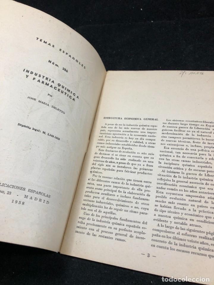 Coleccionismo de Revista Temas Españoles: TEMAS ESPAÑOLES. Nº 356. INDUSTRIA QUÍMICA Y FARMACÉUTICA. PUBLICACIONES ESPAÑOLAS 1958. - Foto 3 - 262240515