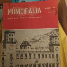 Coleccionismo de Revista Temas Españoles: MUNICIPALIA, AGOSTO DEL 63. Lote 268420069