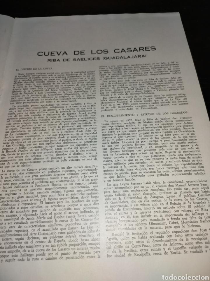 Coleccionismo de Revista Temas Españoles: Cueva de los Casares Guadalajara. Noticiario turístico. suplemento número 265 1969 - Foto 5 - 272088123