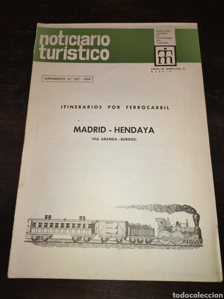 ITINERARIOS POR FERROCARRIL MADRID HENDAYA VÍA ARANDA BURGOS. NOTICIARIO TURÍSTICO. 1969 (Papel - Revistas y Periódicos Modernos (a partir de 1.940) - Revista Temas Españoles)