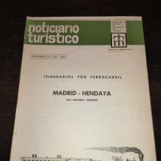 Coleccionismo de Revista Temas Españoles: ITINERARIOS POR FERROCARRIL MADRID HENDAYA VÍA ARANDA BURGOS. NOTICIARIO TURÍSTICO. 1969. Lote 272097613