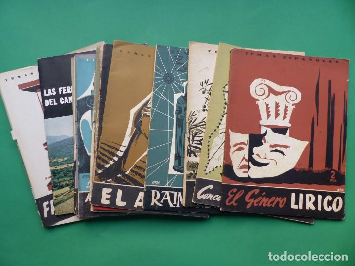 TEMAS ESPAÑOLES, 16 REVISTAS - AÑOS 1950 - VER FOTOS ADICIONALES (Papel - Revistas y Periódicos Modernos (a partir de 1.940) - Revista Temas Españoles)