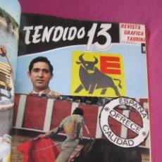 Coleccionismo de Revista Temas Españoles: TENDIDO 13 REVISTA TAURINA 1 AL 19 ENCUADERNADAS EN TOMO AÑO 1967,. Lote 276649893