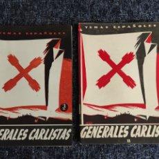 Coleccionismo de Revista Temas Españoles: TEMAS ESPAÑOLES Nº 115 Y 228 GENERALES CARLISTAS -EDITADO : AÑOS 60. Lote 278529588