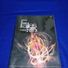 Coleccionismo de Revista Temas Españoles: FALLAS DE CULLERA 2013 JUNTA LOCAL FALLERA. Lote 287609168