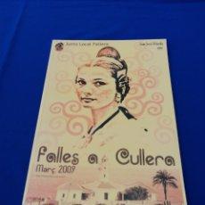 Coleccionismo de Revista Temas Españoles: FALLAS DE CULLERA 2009. Lote 287684793