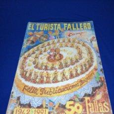 Coleccionismo de Revista Temas Españoles: EL TURISTA FALLERO 1991 - 50 ANIVERSARIO. Lote 288079678