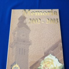 Coleccionismo de Revista Temas Españoles: AGRUPACIÓN DE FALLAS MARÍTIMO MEMORIA 2002-2003. Lote 288170643