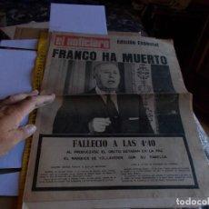 Coleccionismo de Revista Temas Españoles: FRANCO PERIODICO DE LA MUERTE DE FRANCO DE 1975,,UNICO EN TC ,. Lote 288906428