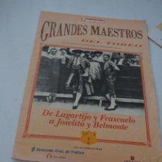 Coleccionismo de Revista Temas Españoles: GRANDES MAESTROS DEL TOREO CAPITULO 2.REVISTA PANORAMA. Lote 293463393