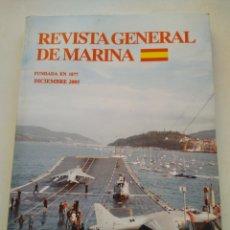 Coleccionismo de Revista Temas Españoles: REVISTA GENERAL DE MARINA DICIEMBRE 2005 TOMO 249. Lote 297049693